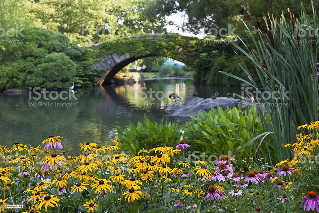New York City Gapstow bridge stock photo