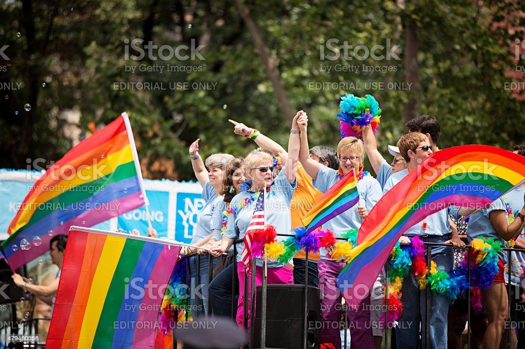Cidade de Nova York Parada Orgulho Gay de 2015 - foto de acervo