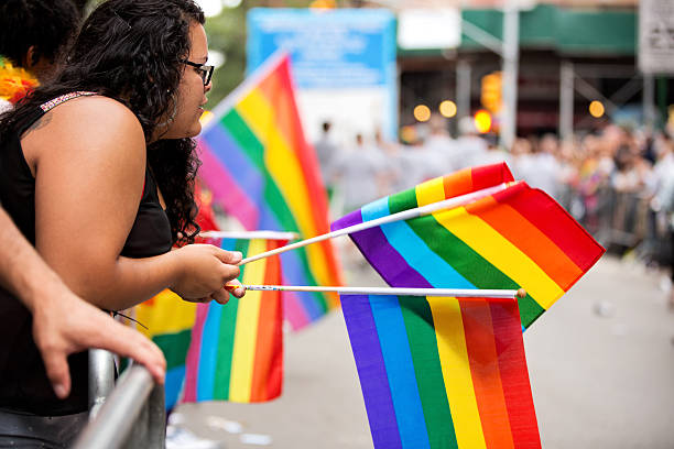 New York City Gay Pride Parade 2015 stock photo