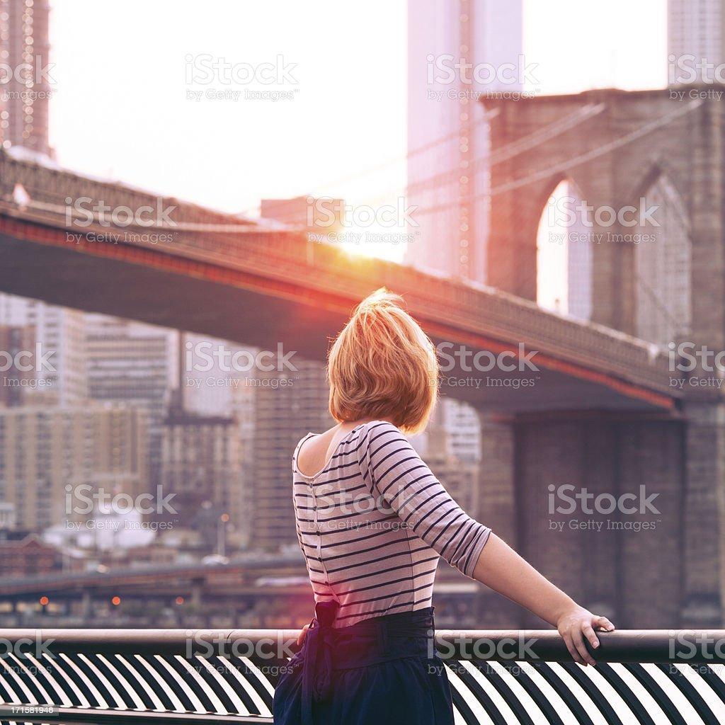 New York City Girl stock photo