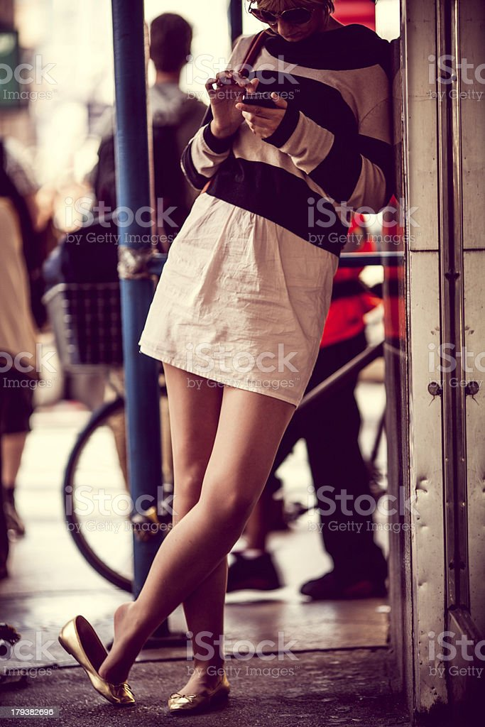 New York City girl stock photo