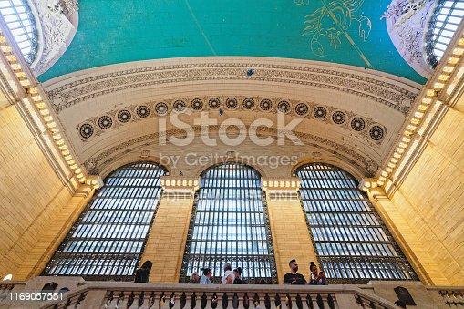 Grand Central Terminal in New York City. Interior of Main Concourse. New York City/USA - May 25, 2019