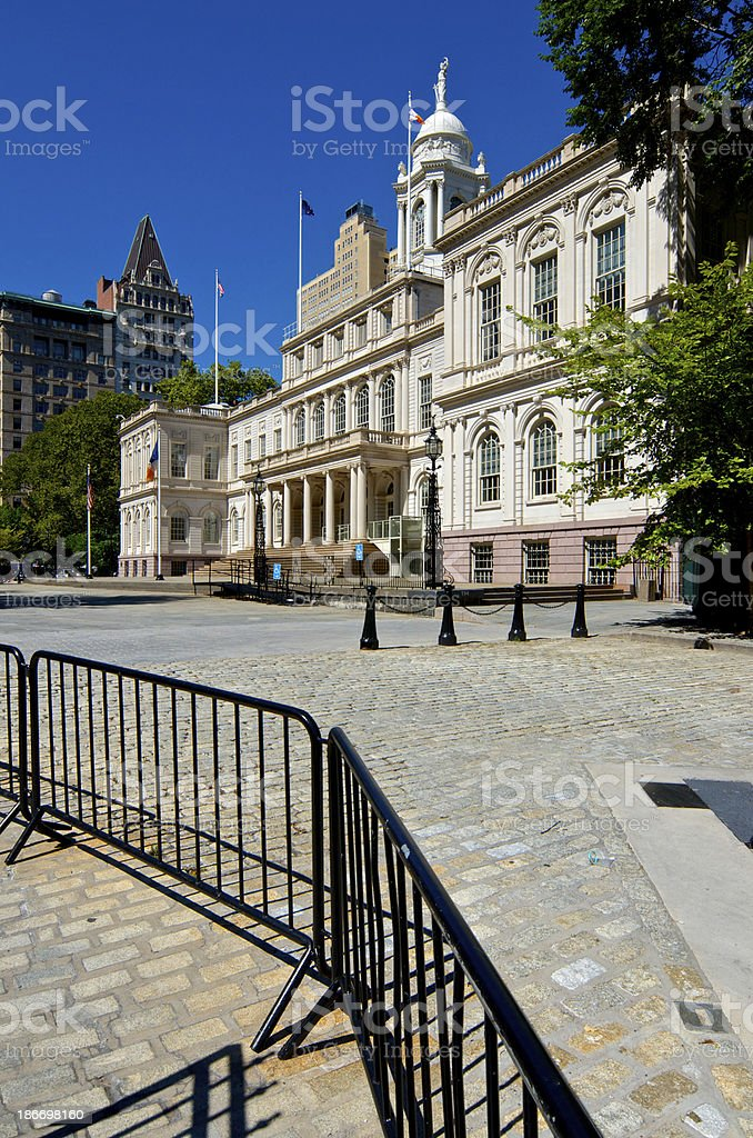 New York City Hall Building, Civic Center, Lower Manhattan stock photo
