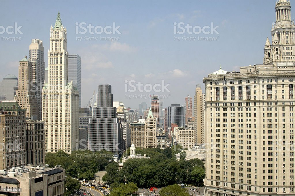New York City Hall in the middle stock photo