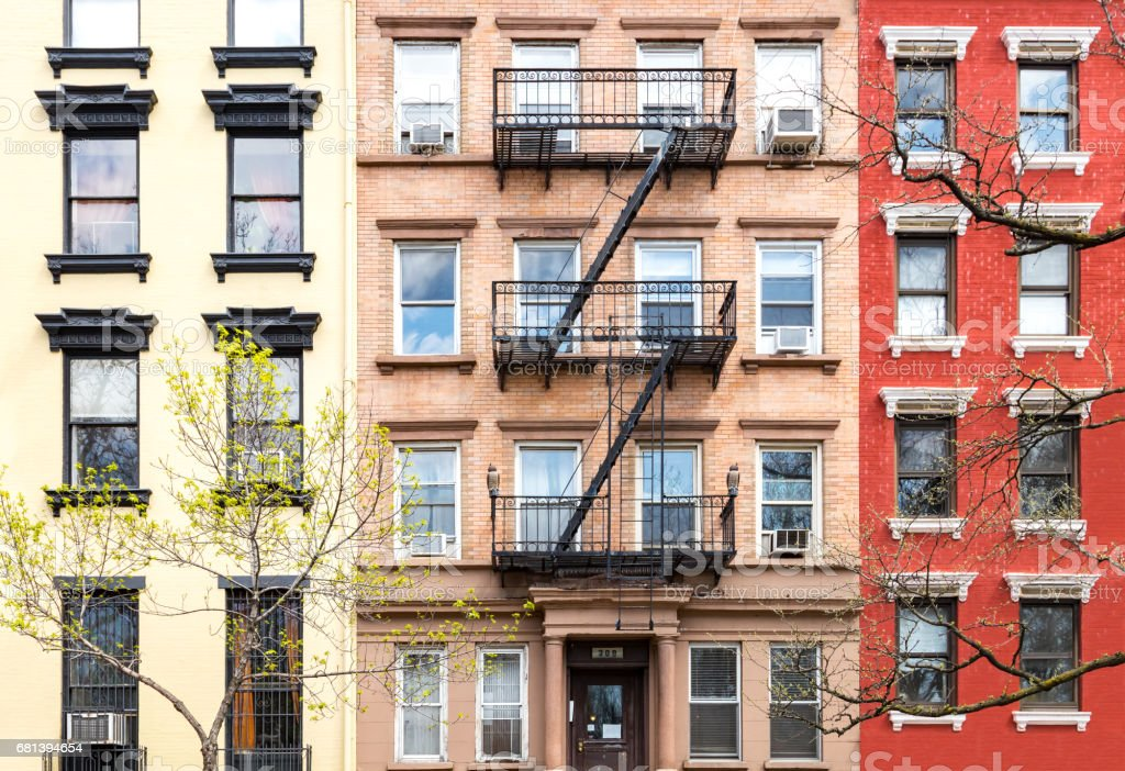 New York City Historic Buildings in Manhattan stock photo