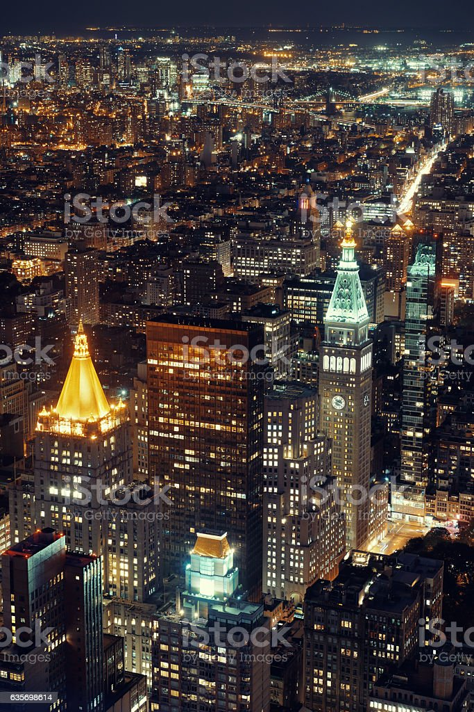 New York City historical skyscrapers royalty-free stock photo
