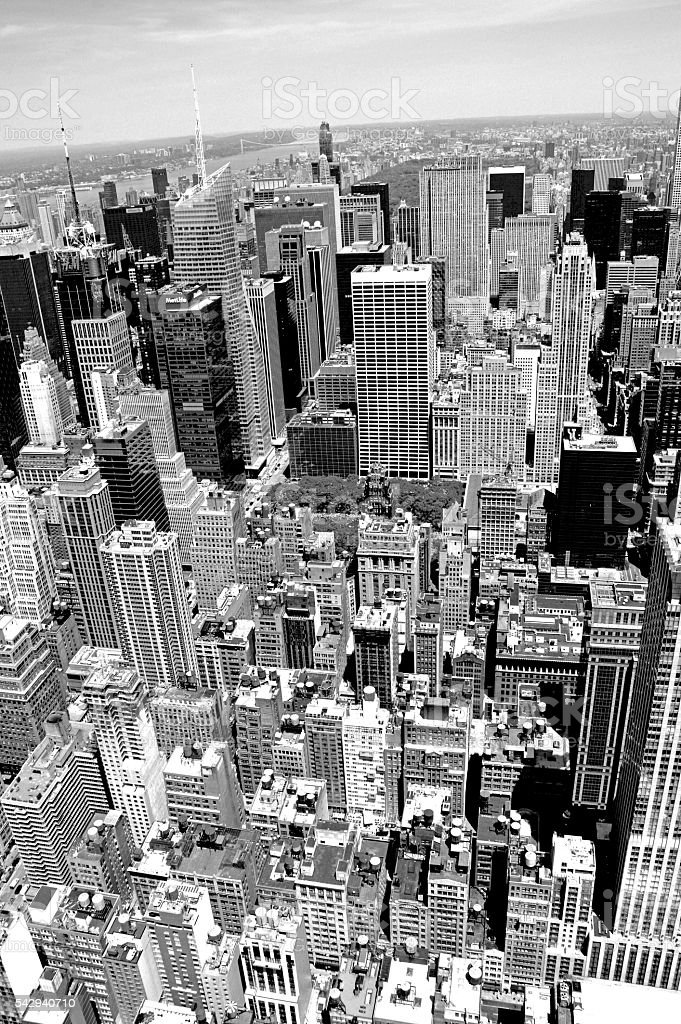New York City in bianco e nero stock photo