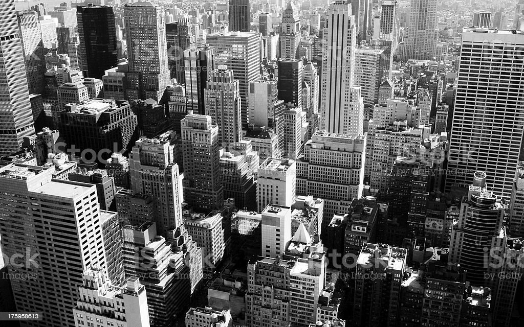 New York city in black and white royalty-free stock photo