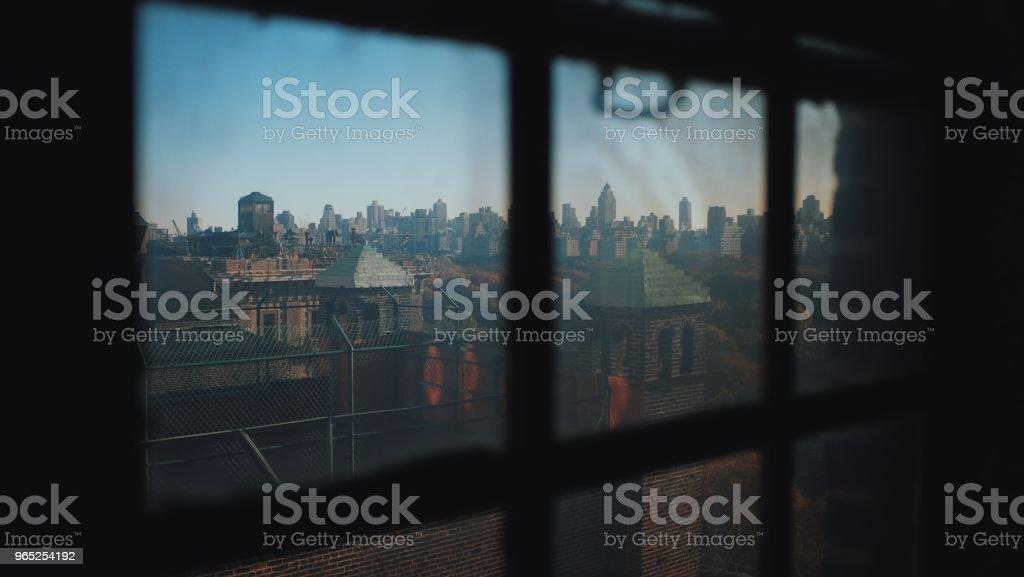 New York City Industrial Skyline zbiór zdjęć royalty-free