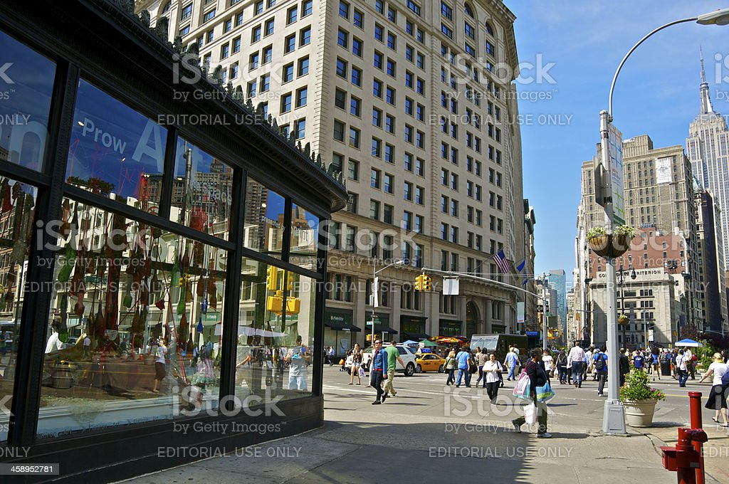 New York City Intersections, 23rd Street & 5th Avenue, Manhattan stock photo