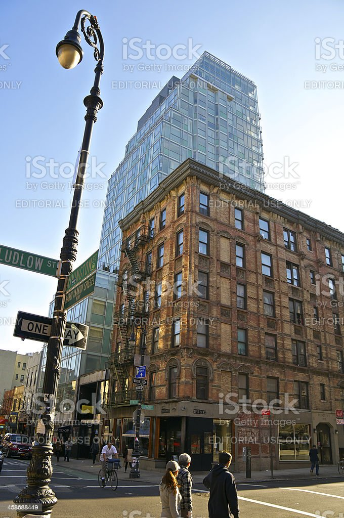 New York City Intersections, Rivington & Ludlow Streets, Manahattan royalty-free stock photo