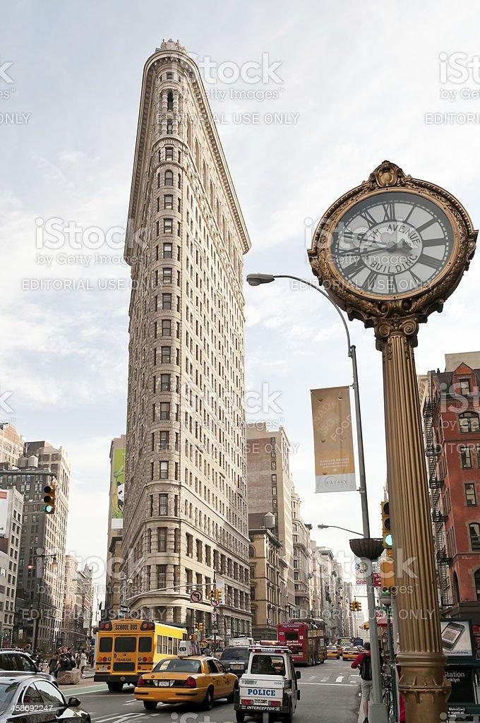 New York City landmarks - Flatiron building royalty-free stock photo