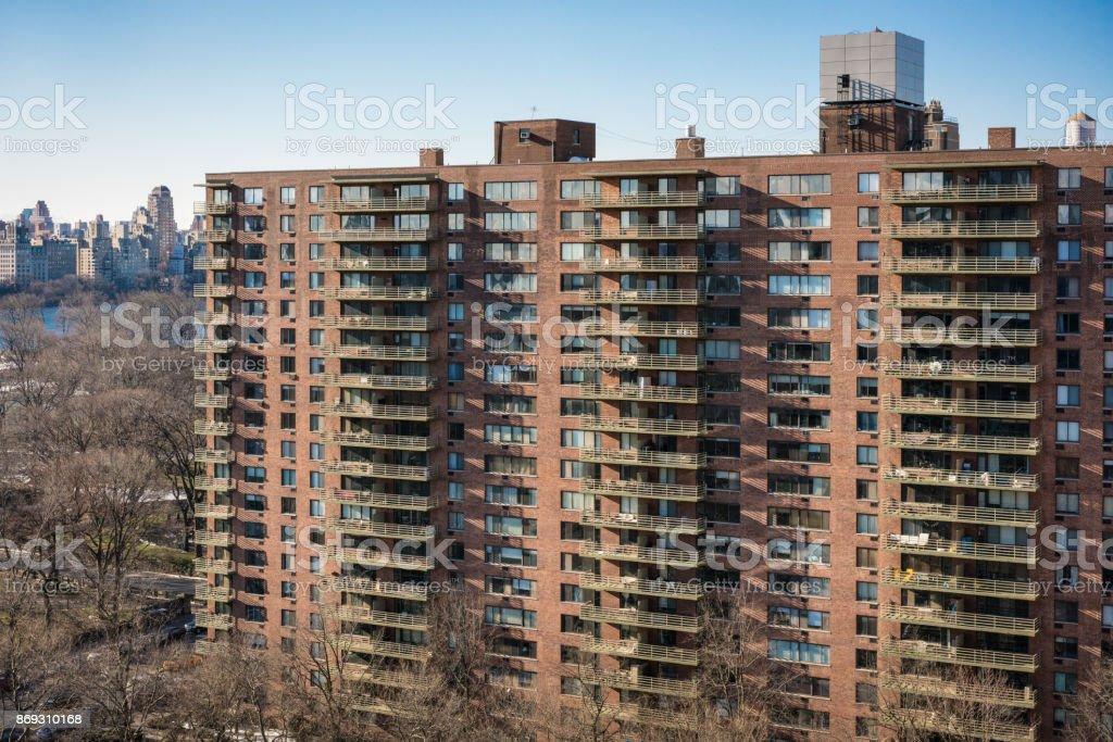 New York City Large Apartment Block Near Central Park ...