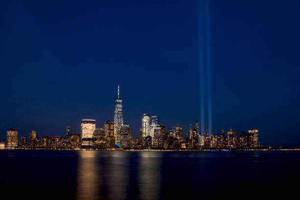 New York City Light Tribute stock photo