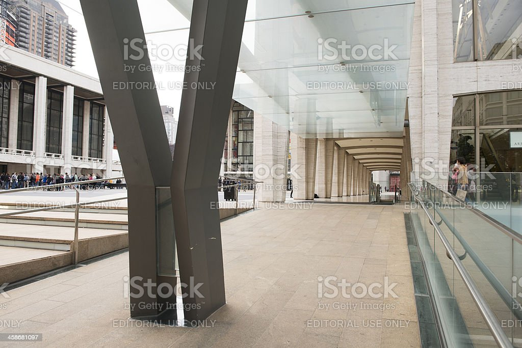 New York City Lincoln Center Hallway Architecture stock photo