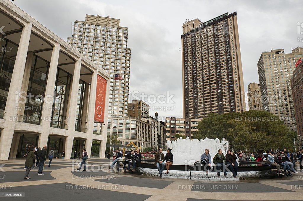New York City Lincoln Center Urban Architecture stock photo