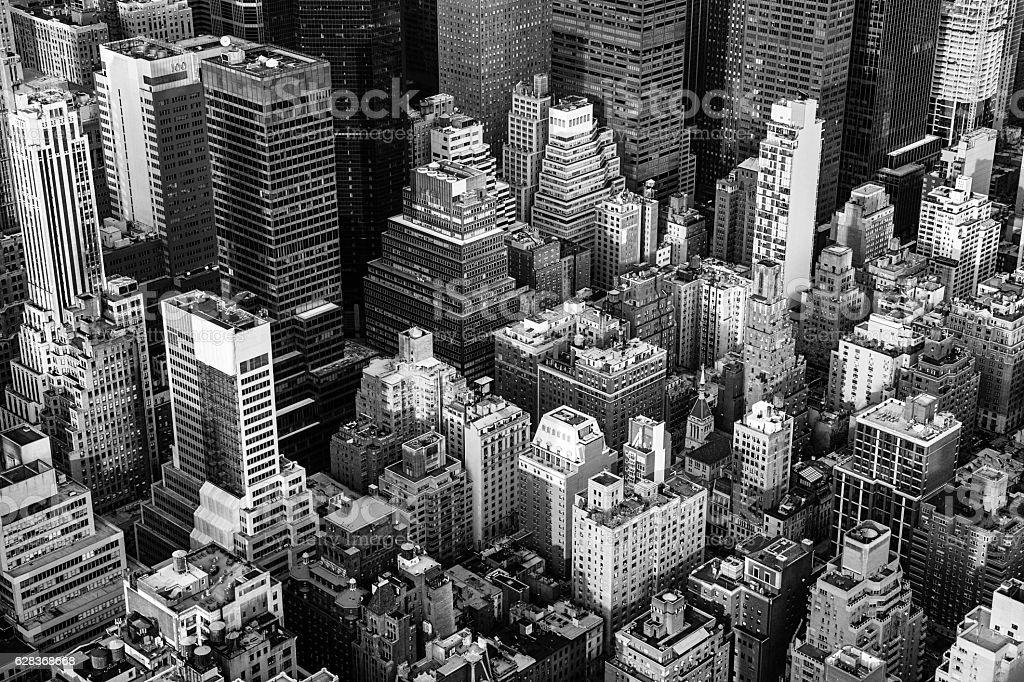 New York City Manhattan aerial view stock photo