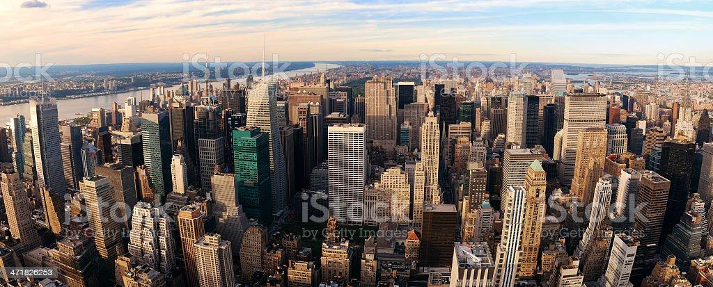 New York City Manhattan at sunset royalty-free stock photo