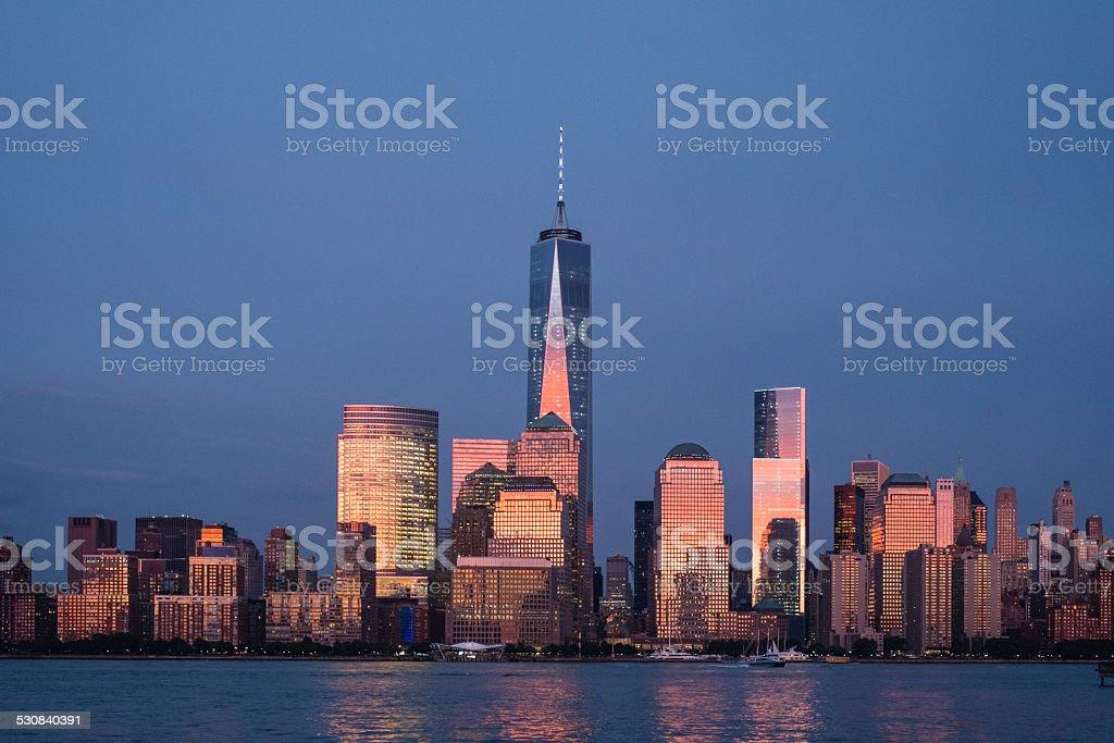 New York City Manhattan downton skyline stock photo