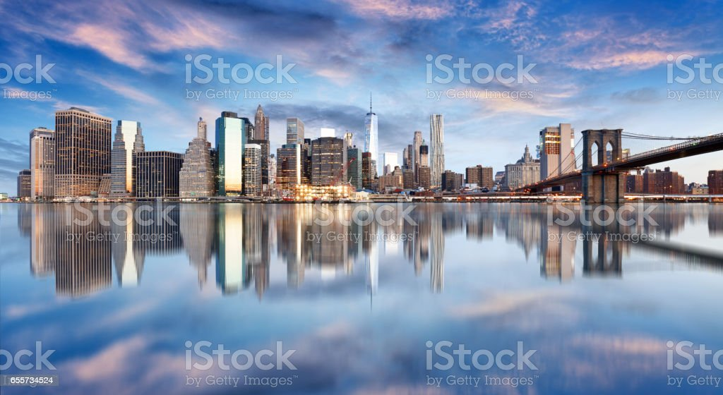New York City, Manhattan, downtown, NYC, USA. stock photo
