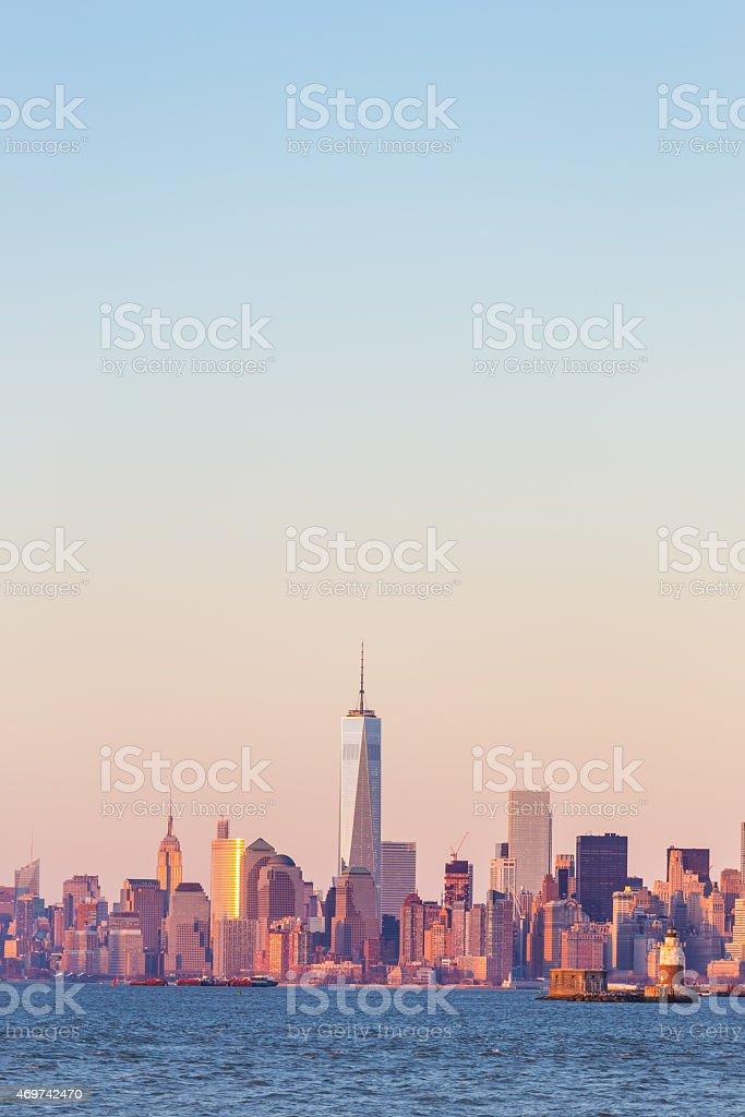 New York City Manhattan skyline der Innenstadt Lizenzfreies stock-foto