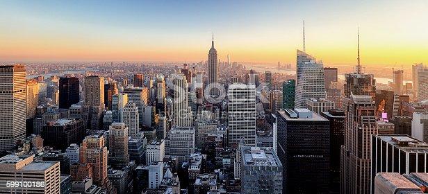 istock New York City. Manhattan downtown skyline. 599100186