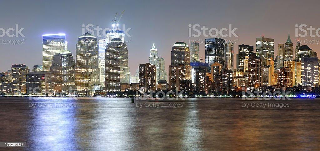 New York City Manhattan dusk panorama royalty-free stock photo