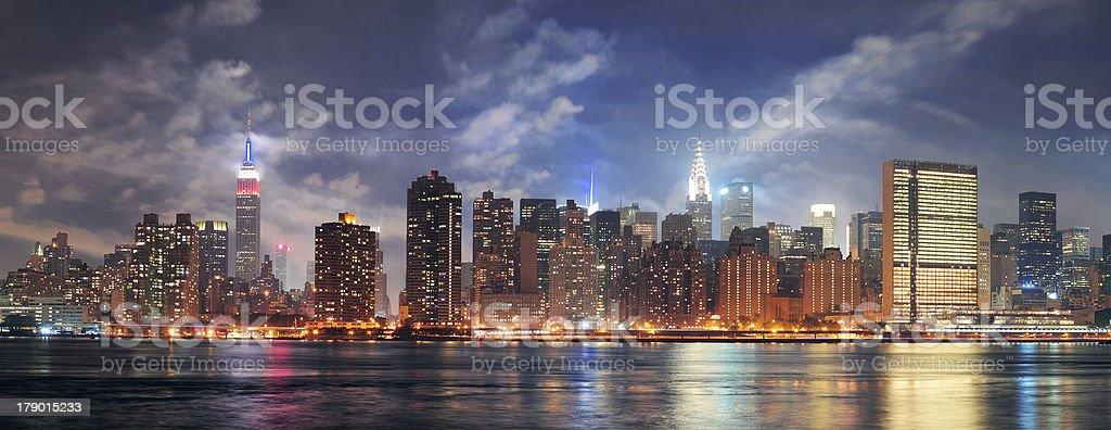 New York City Manhattan midtown at dusk royalty-free stock photo