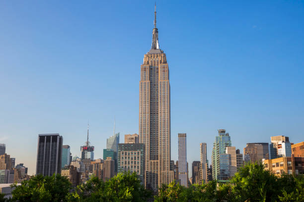 New York City Manhattan Midtown view with Empire State Building. New York City, USA. New York City, USA - May 31, 2015: New York City Manhattan Midtown view with Empire State Building. May 31, 2015 New York City, USA. empire state building stock pictures, royalty-free photos & images