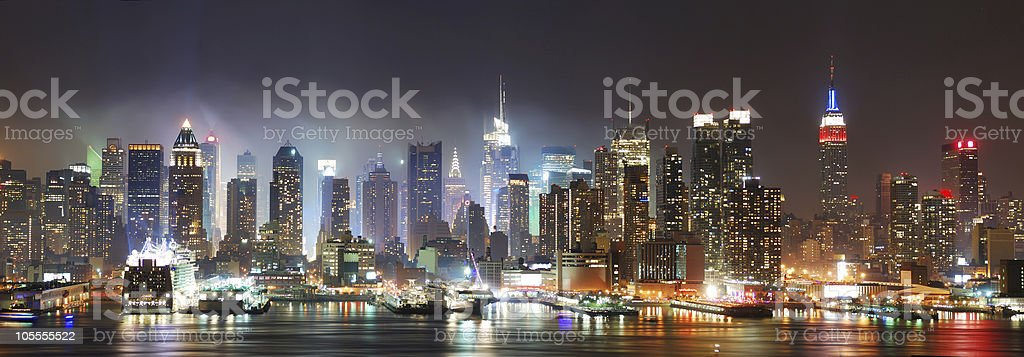 New York City Manhattan skyline panorama royalty-free stock photo