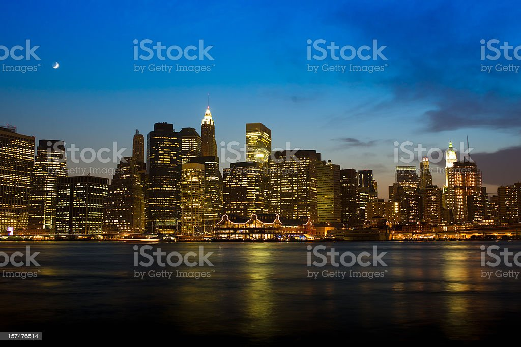 New York City Manhattan Skyline royalty-free stock photo