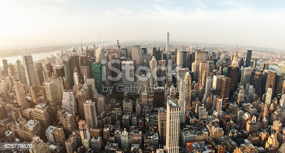 istock New York City Manhattan street aerial view with skyscrapers 629779570