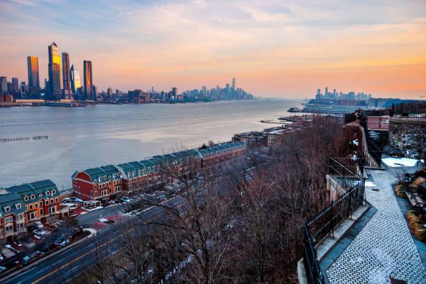 New York City - Manhattan view seen from West New York, NJ stock photo