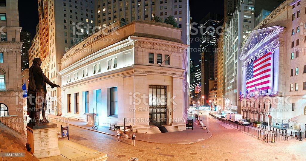 New York City Manhattan Wall Street panorama royalty-free stock photo