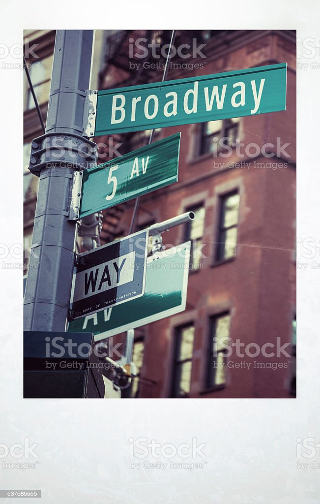 New York City Midtown intersection stock photo