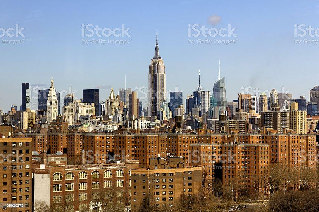 New York City Midtown Manhattan Skyline royalty-free stock photo