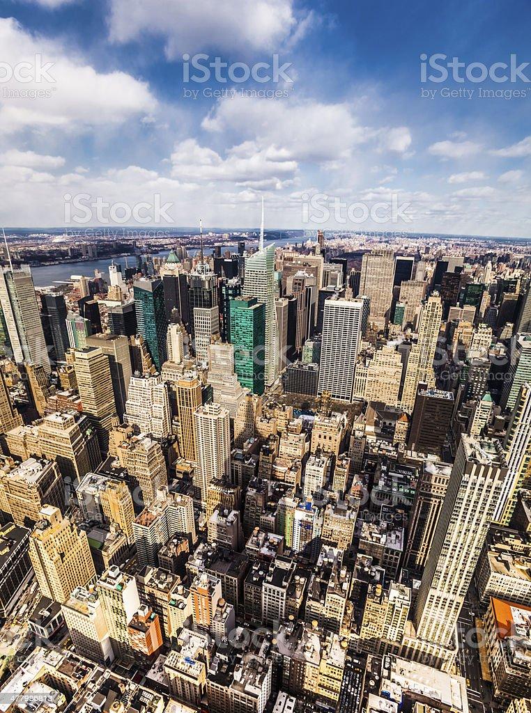 New York City Midtown Skyline royalty-free stock photo