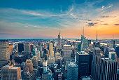 New York City midtown skyline (vintage)