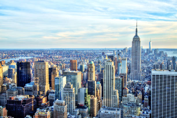 New York City Midtown with Empire State Building stock photo