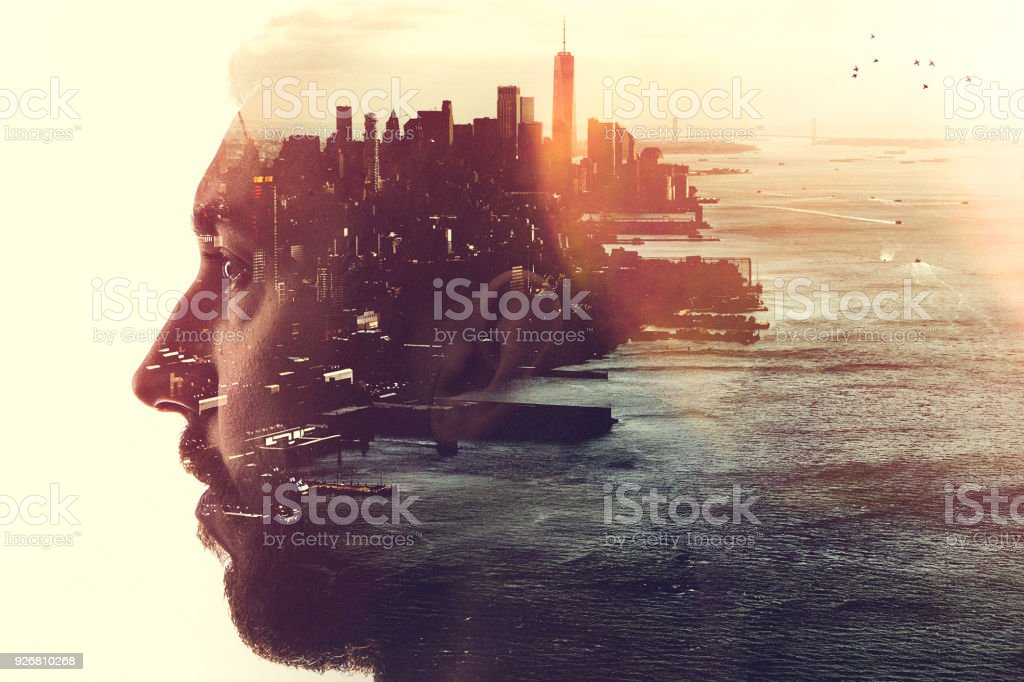 New York City Mind State Concept Image stock photo