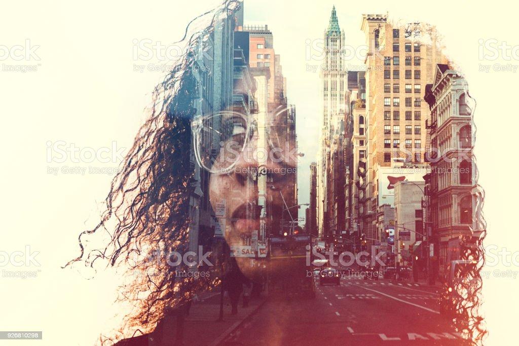 New York City zihin durumu kavram resmi - Royalty-free 20'lerinde Stok görsel