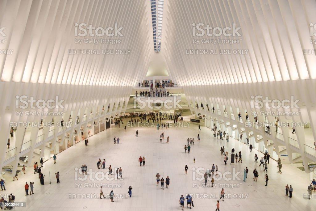 New York City, New York, USA - September, 10 2016: Santiago Calatrava's Oculus in Lower Manhattan. stock photo