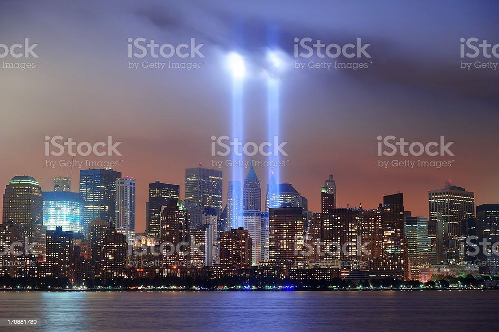New York City night stock photo