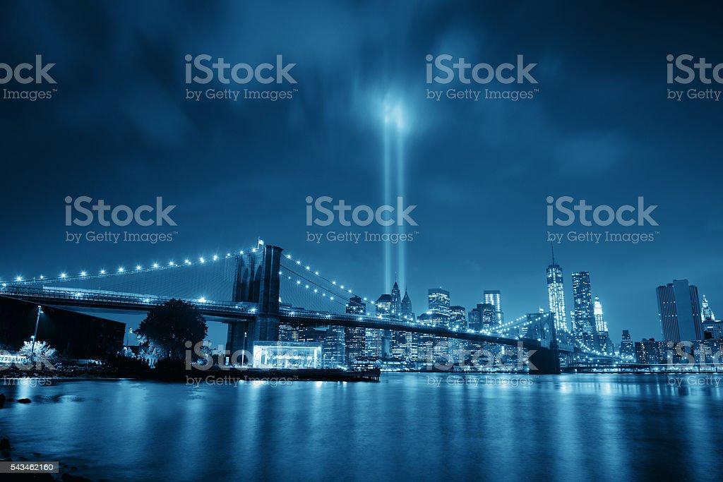 New York City night stock photo