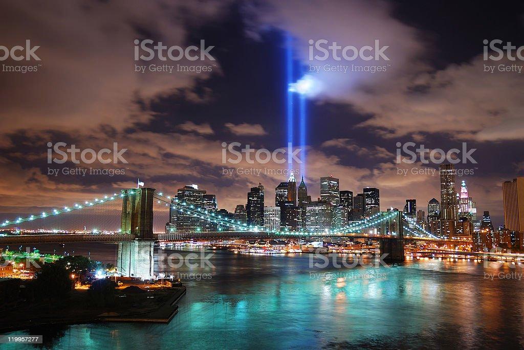 New York City night scene royalty-free stock photo