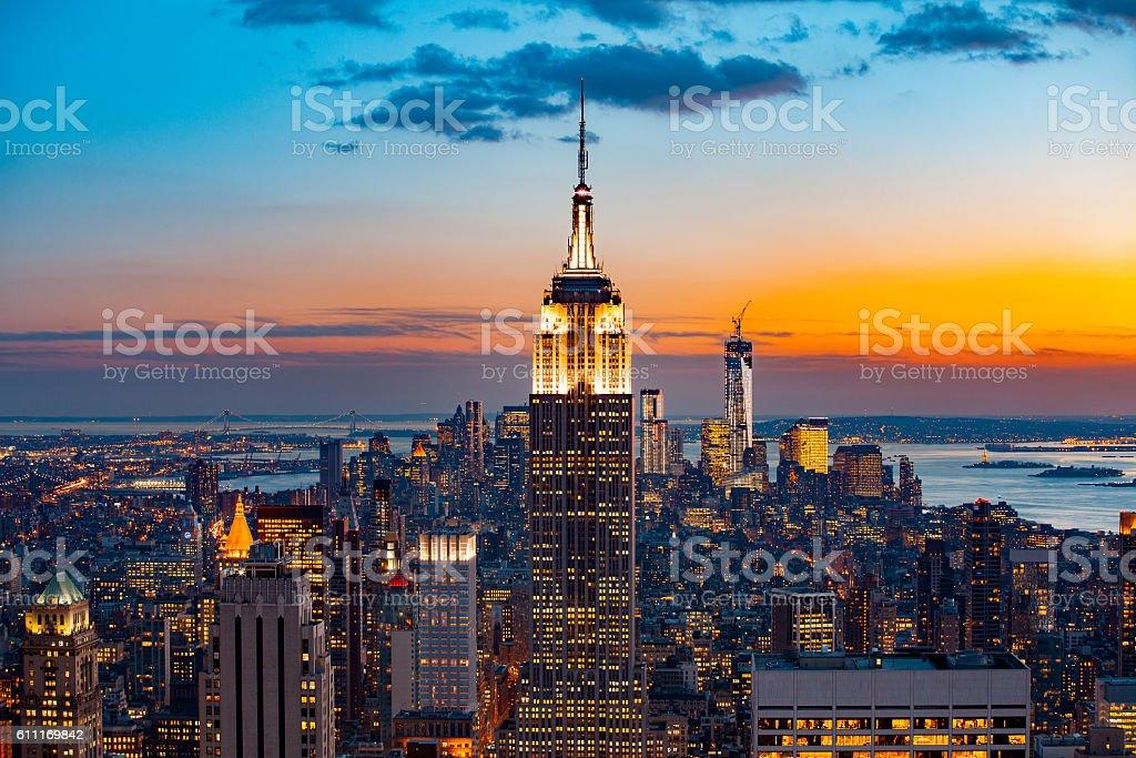 New York City bei Nacht  – Foto