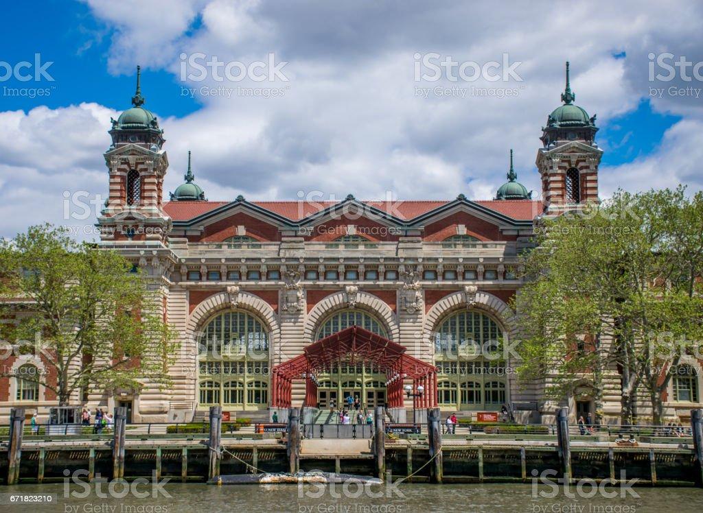 New York City, NY USA - 05/11/2015 - New York City Ellis Island Registration Building stock photo