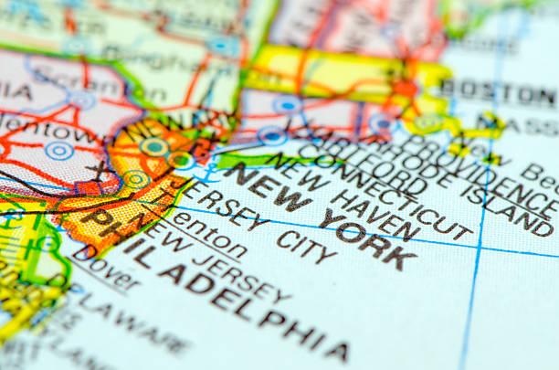 new york city nueva york mapa foto de stock