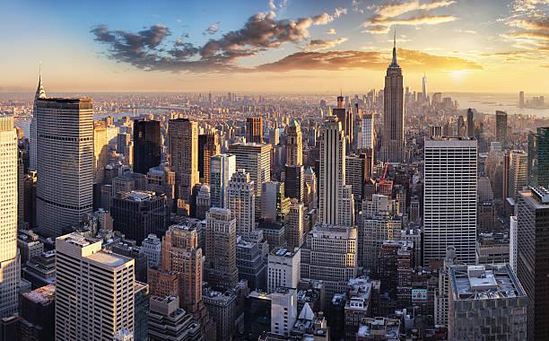 нью-йорк, nyc, сша - деловой центр города стоковые фото и изображения
