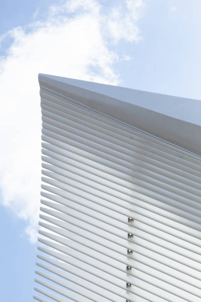New York City Oculus World Trade Center Exterior Details stock photo